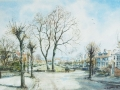 View of the Avenue from Edge Bank  Watercolour by Kristen Baggaley, 1996