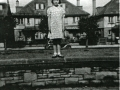 Margaret Drabble on the wall of the Avenue, c.1950 (picture taken from Sunday Times article)